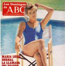 Coleccionismo de Los Domingos de ABC: 1987. KABUKI EN ESPAÑA. LOS RONALDOS. MARÍA LUISA BERNAL.. Lote 122275039