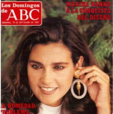 Coleccionismo de Los Domingos de ABC: 1987. MARINA DANKO. VALLE DE LOS CAIDOS. MARÍA ISBERT. PRETENDERS. STEFFI GRAF.. Lote 122278547