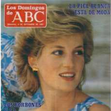 Coleccionismo de Los Domingos de ABC: 1987. DIANA DE GALES. CARLOS CARDÚS. SITO PONS. ASPAR. CHAMPI HERREROS. ALASKA.. Lote 122279847