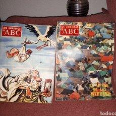 Coleccionismo de Los Domingos de ABC: LOTE 2 EJEMPLARES LOS DOMINGOS DE ABC HIPPIES Y FINAL 1968. Lote 122951428