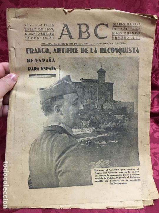 PERIODICO ABC 17 ENERO DE 1939 - FRANCO ARTIFICE DE LA RECONQUISTA DE ESPAÑA (Collectable Paper - Modern Magazines and Newspapers (since 1940) - Los Domingos de ABC)