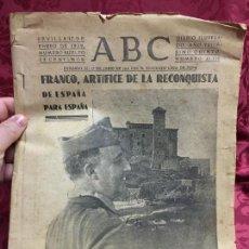 Coleccionismo de Los Domingos de ABC: PERIODICO ABC 17 ENERO DE 1939 - FRANCO ARTIFICE DE LA RECONQUISTA DE ESPAÑA. Lote 122974895