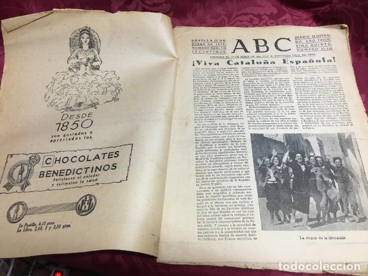 Collection Los Domingos de ABC: PERIODICO ABC 17 ENERO DE 1939 - FRANCO ARTIFICE DE LA RECONQUISTA DE ESPAÑA - Foto 2 - 122974895