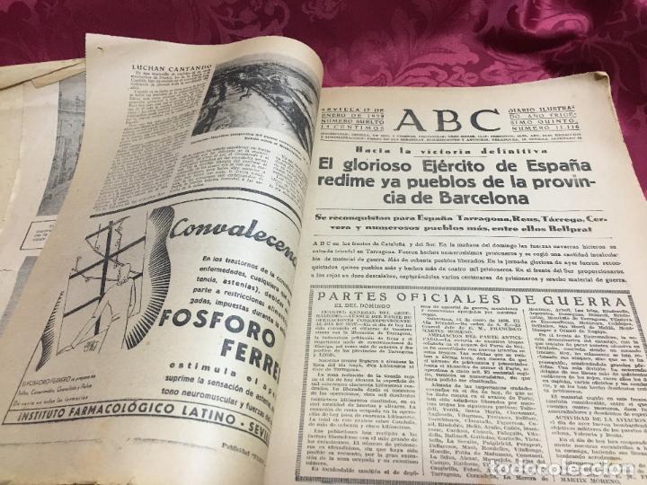 Collection Los Domingos de ABC: PERIODICO ABC 17 ENERO DE 1939 - FRANCO ARTIFICE DE LA RECONQUISTA DE ESPAÑA - Foto 3 - 122974895