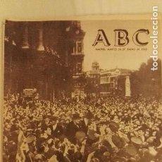 Coleccionismo de Los Domingos de ABC: DIARIO ABC MUERTE CHURCHILL. Lote 123289535