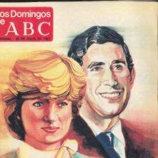 Coleccionismo de Los Domingos de ABC: LOS DOMINGOS DE ABC. 1981. LA BODA DEL SIGLO. CARLOS Y DIANA. Lote 124619291