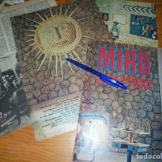 Colecionismo de Los Domingos de ABC: RECORTE PRENSA : MUSEO MIRO EN PARIS. DOMINGOS ABC, SPTIEMBRE. Lote 125048295