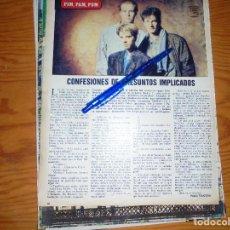 Coleccionismo de Los Domingos de ABC: RECORTE PRENSA : CONFESIONES DE PRESUNTOS IMPLICADOS. DOMINGOS ABC, JUNIO 1986. Lote 125152811