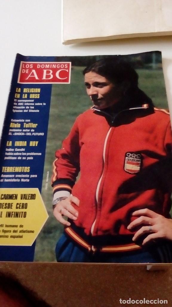 C-REG80 REVISTA LOS DOMINGOS DE ABC 8 DE MAYO 1977 CARMEN VALERO DESDE CERO AL INFINITO (Coleccionismo - Revistas y Periódicos Modernos (a partir de 1.940) - Los Domingos de ABC)