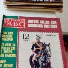 Coleccionismo de Los Domingos de ABC: C-15OG18 REVISTA LOS DOMINGOS DE ABC 15 DE ENERO DE 1978 NUEVOS SELLOS CON UNIFORMES MILITARES . Lote 125224823