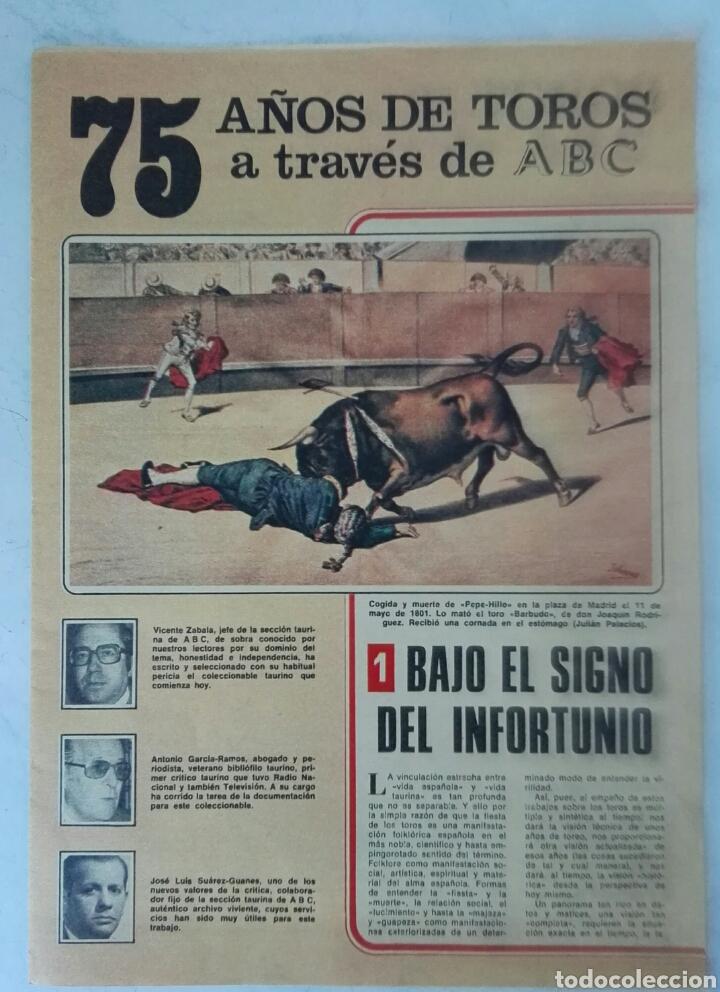 75 AÑOS DE TOROS A TRAVÉS DE ABC N° 1 (Coleccionismo - Revistas y Periódicos Modernos (a partir de 1.940) - Los Domingos de ABC)