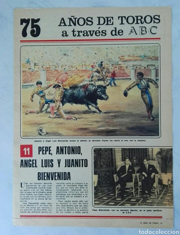 75 AÑOS DE TOROS A TRAVÉS DE ABC N° 11 FASCÍCULO (Coleccionismo - Revistas y Periódicos Modernos (a partir de 1.940) - Los Domingos de ABC)