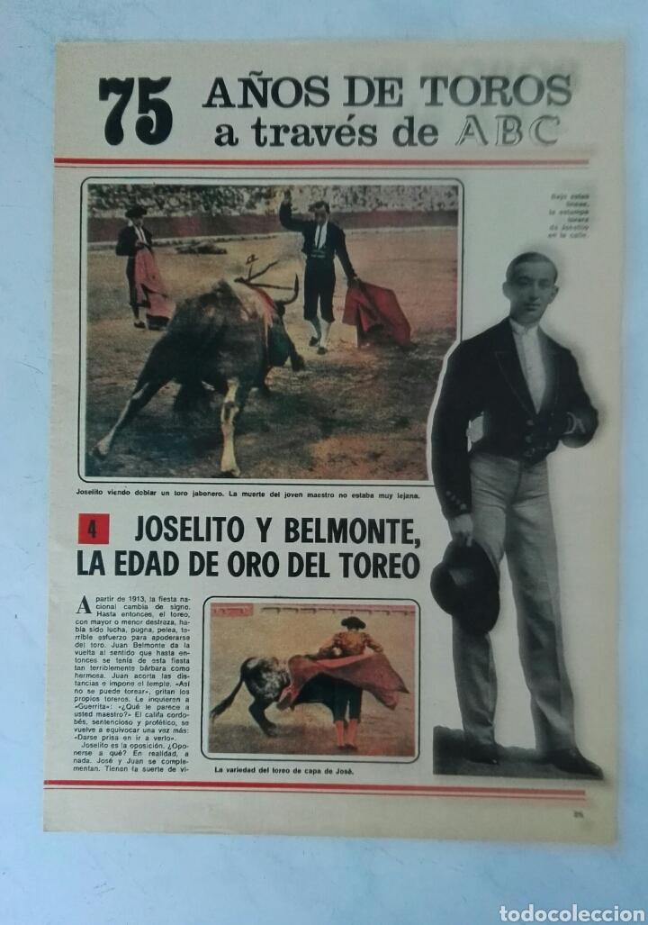 75 AÑOS DE TOROS A TRAVÉS DE ABC N° 4 FASCÍCULO JOSELITO BELMONTE (Coleccionismo - Revistas y Periódicos Modernos (a partir de 1.940) - Los Domingos de ABC)
