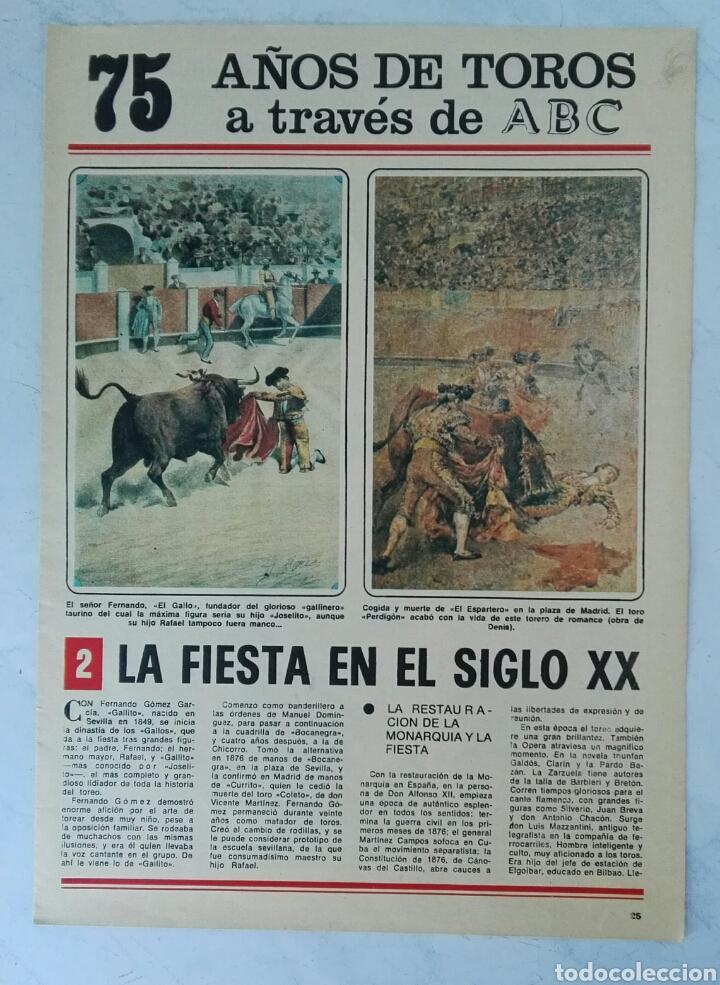 75 AÑOS DE TOROS A TRAVÉS DE ABC N° 2 FASCÍCULO (Coleccionismo - Revistas y Periódicos Modernos (a partir de 1.940) - Los Domingos de ABC)