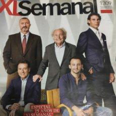 Coleccionismo de Los Domingos de ABC: XL SEMANAL. RAFA NADAL - AMENABAR - JOAQUIN SABINA. 25 ANIVERSARIO. Lote 125910071