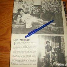 Colecionismo de Los Domingos de ABC: RECORTE PRENSA : LINA MORGAN . DOMINGOS ABC, NVMBRE 1971. Lote 128165079