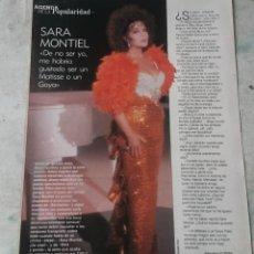 Coleccionismo de Los Domingos de ABC: SARA MONTIEL: DE NO SER YO, ME HABRÍA GUSTADO SER UN MATISSE O UN GOYA. (BLANCO Y NEGRO 1990). Lote 128592083