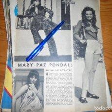 Coleccionismo de Los Domingos de ABC: RECORTE PRENSA : MARY PAZ PONDAL, NUEVO CAFE-TEATRO. DOMINGOS ABC, SEPTMB 1971. Lote 128607411