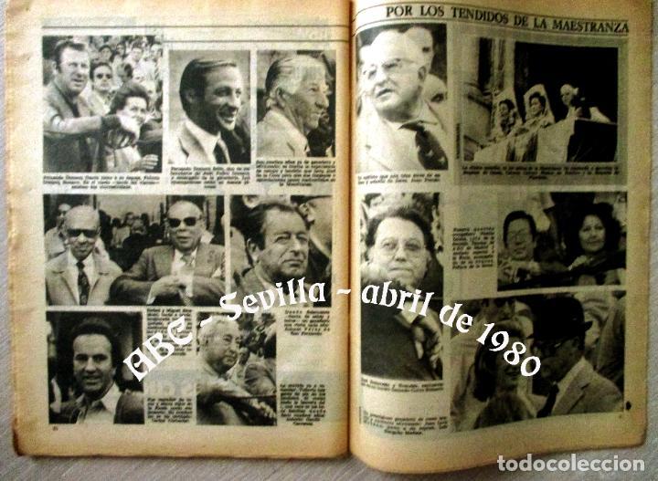 Coleccionismo de Los Domingos de ABC: ABC. 27 ABRIL 1980. CORRIDA FERIA ABRIL. ADOLFO SUAREZ,TRANCISIÓN, GENTE CONOCIDA TOROS. - Foto 2 - 131186132