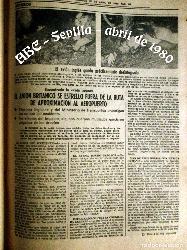 Coleccionismo de Los Domingos de ABC: ABC. 27 ABRIL 1980. CORRIDA FERIA ABRIL. ADOLFO SUAREZ,TRANCISIÓN, GENTE CONOCIDA TOROS. - Foto 6 - 131186132