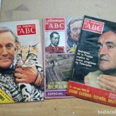 Coleccionismo de Los Domingos de ABC: 3 REVISTAS. LOS DOMINGOS DE ABC . FÉLIX RODRÍGUEZ DE LA FUENTE.. Lote 133650390