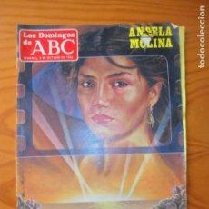 Collectionnisme de Los Domingos de ABC: LOS DOMINGOS DE ABC, 9 DE OCTUBRE 1983- ANGELA MOLINA- VICENTE CALDERON- FIAT REGATA- MINGONTE.... Lote 134300678