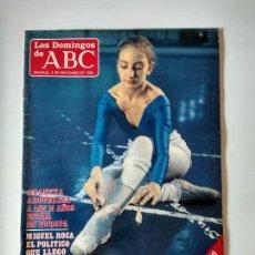 Coleccionismo de Los Domingos de ABC: REVISTA SEMANAL LOS DOMINGOS DE ABC AÑO 1985 ARANTXA ARGÜELLES , MIGUEL ROCA. Lote 134310974