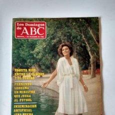 Coleccionismo de Los Domingos de ABC: REVISTA SEMANAL LOS DOMINGOS DE ABC AÑO 1985 PAQUITA RICO. Lote 134311166