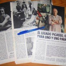 Coleccionismo de Los Domingos de ABC: RECORTE PRENSA : EL LEGADO DE PICASSO. DOMINGOS ABC, JULIO 1977. Lote 206366660
