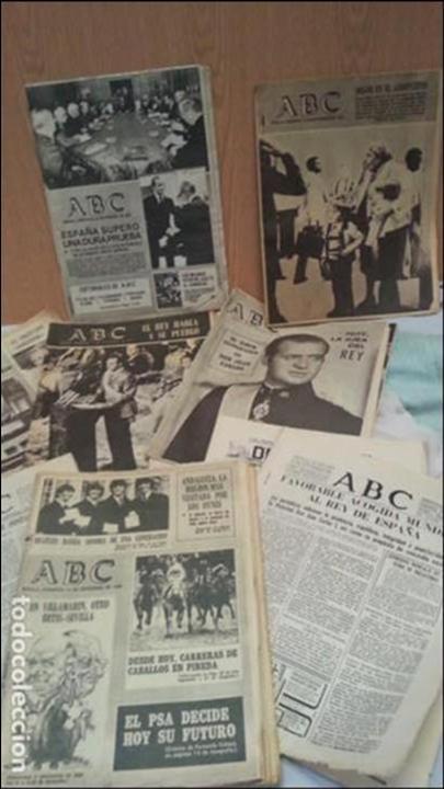PERIÓDICOS ABC. CONJUNTO DE 8 EJEMPLARES. AÑOS 1970-1980 TODOS DIFERENTES. (Coleccionismo - Revistas y Periódicos Modernos (a partir de 1.940) - Los Domingos de ABC)