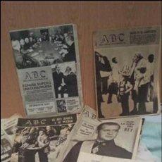 Coleccionismo de Los Domingos de ABC: PERIÓDICOS ABC. CONJUNTO DE 8 EJEMPLARES. AÑOS 1970-1980 TODOS DIFERENTES.. Lote 135790150