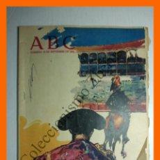 Coleccionismo de Los Domingos de ABC: ABC 16 SEPTIEMBRE 1962 - VIÑAS JEREZANAS; PINTOR BENEDITO; MARIANO BENLLIURE; . Lote 135827150