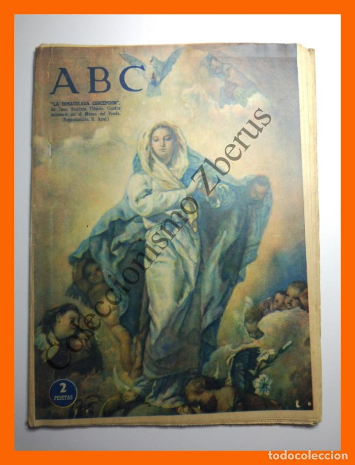 ABC 8 Diciembre 1957 - La Inmaculada en el arte Sevillano; Pigmalión y Cenicienta segunda mano