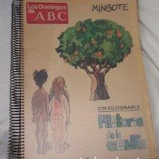 Coleccionismo de Los Domingos de ABC: COLECCIONABLE HISTORIA DE LA GENTE, POR ANTONIO MINGOTE, DE LOS DOMINGOS DE ABC, 1980. Lote 140422566