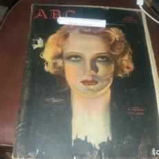 Coleccionismo de Los Domingos de ABC: PERIODICO 28 DE ABRIL AÑO 1934 NOTICIAS POLÍTICA PUBLICIDAD COCHE CITROEN RADIO WESTINGHOUSE . Lote 143245766