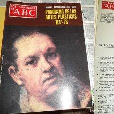 Coleccionismo de Los Domingos de ABC: LOS DOMINGOS DE ABC-2 JULIO 1978-MONOGRAFICO GOYA ARTES PLASTICAS. Lote 143845258