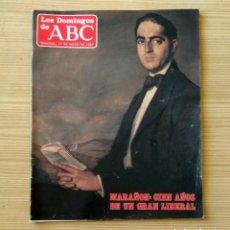 Coleccionismo de Los Domingos de ABC: LOS DOMINGOS DE ABC - 17 DE MAYO DE 1987 Nº 993 - MARAÑÓN: CIEN AÑOS DE UN GRAN LIBERAL. Lote 147591078