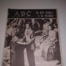 Coleccionismo de Los Domingos de ABC: ABC 23 NOVIEMBRE 1975,EL REY HABLA A SU PUEBLO.LUIS FELIPE VIVANCO.. Lote 150586001