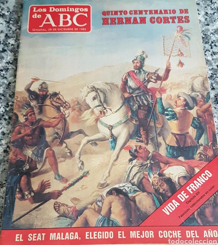 LOS DOMINGOS DE ABC AÑO 1985 QUINTO CENTENARIO DE HERNAN CORTES. (Coleccionismo - Revistas y Periódicos Modernos (a partir de 1.940) - Los Domingos de ABC)
