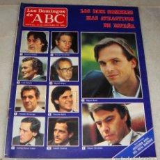 Colecionismo de Los Domingos de ABC: REVISTA LOS DOMINGOS DE ABC. 23 DE NOVIEMBRE DE 1986. LOS 10 HOMBRES MAS ATRACTIVOS DE ESPAÑA.. Lote 157744370
