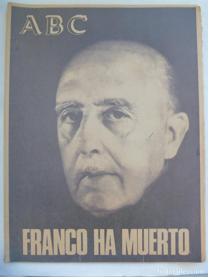FRANCO HA MUERTO . ABC ESPECIAL MUERTE DEL CAUDILLO (Coleccionismo - Revistas y Periódicos Modernos (a partir de 1.940) - Los Domingos de ABC)