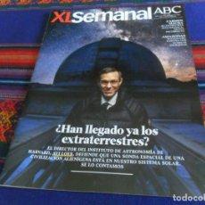 Collectionnisme de Los Domingos de ABC: XL SEMANAL ABC Nº 1632. 3-2-19. HAN LLEGADO LOS EXTRATERRESTRES, AVI LOEB, CARMEN MAURA, AMAZONAS BE. Lote 161694474