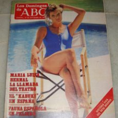Coleccionismo de Los Domingos de ABC: REVISTA LOS DOMINGOS DE ABC. 27 DE SEPTIEMBRE DE 1987. MARIA LUISA BERNAL EN PORTADA.. Lote 161772306