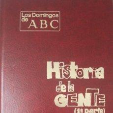 Coleccionismo de Los Domingos de ABC: MINGOTE HISTORIA DE LA GENTE DOS TOMOS COMPLETO LOS DOMINGOS DE ABC EN PERFECTO ESTADO. Lote 164106114