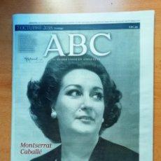 Coleccionismo de Los Domingos de ABC: ABC FALLECIMIENTO DE MONTSERRAT CABALLÉ. Lote 164652674