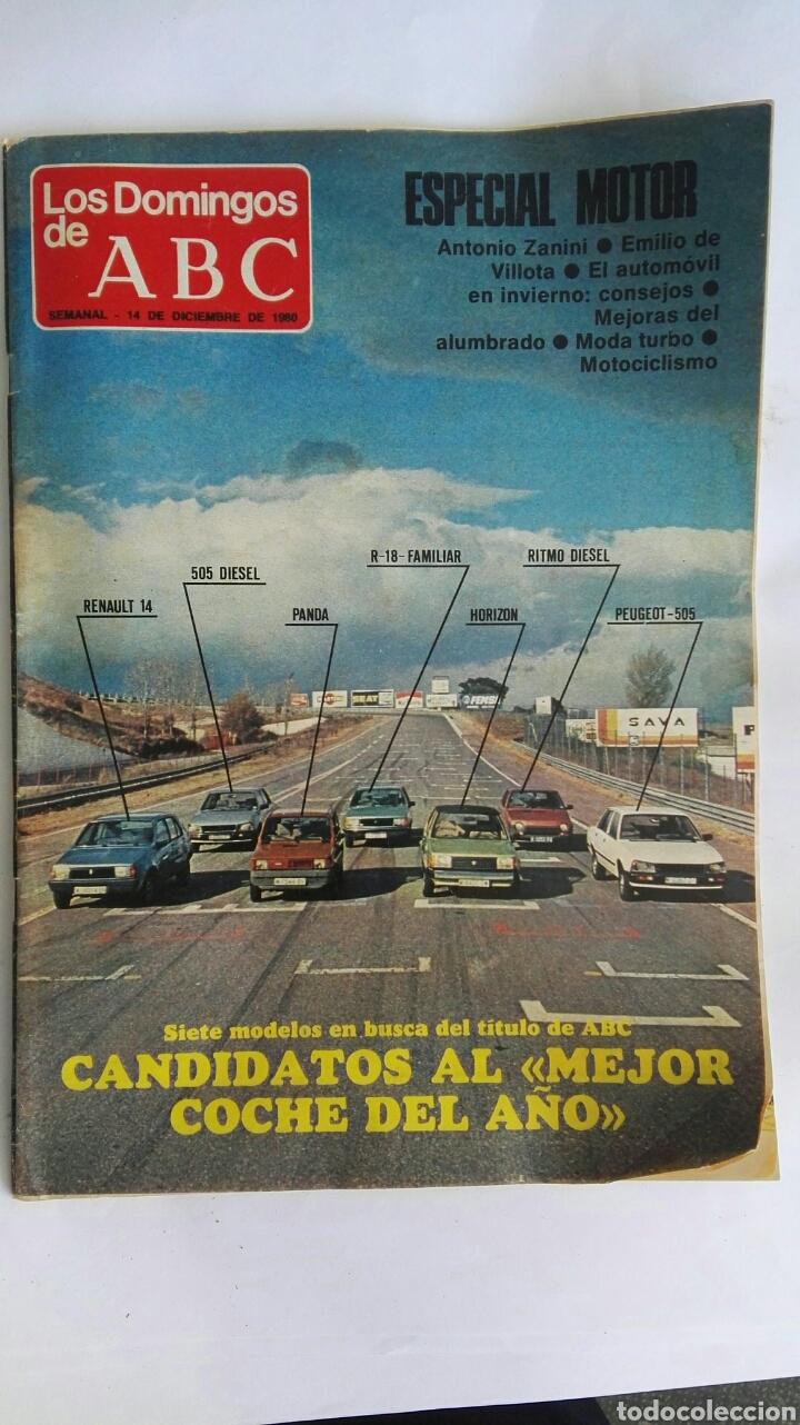 LOS DOMINGOS DE ABC ESPECIAL MOTOR 1980 (Coleccionismo - Revistas y Periódicos Modernos (a partir de 1.940) - Los Domingos de ABC)