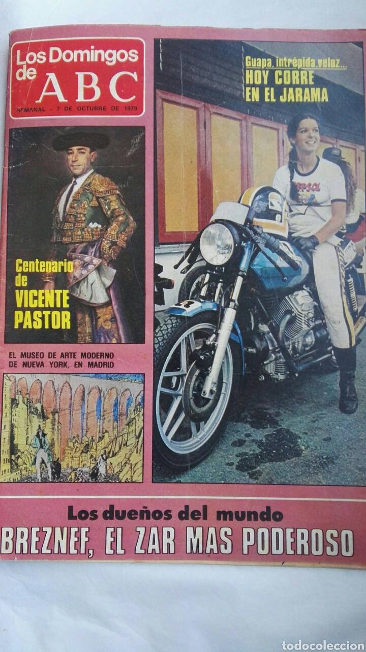LOS DOMINGOS DE ABC OCTUBRE 1979 MOTOCICLISMO (Coleccionismo - Revistas y Periódicos Modernos (a partir de 1.940) - Los Domingos de ABC)
