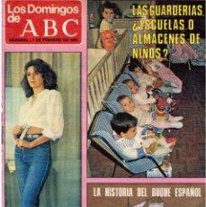 Coleccionismo de Los Domingos de ABC: 1981 VIRGINIA MATAIX. RODRÍGUEZ CASTRO.RANDY OAKES.GUSTAVO ROJO.JANE FONDA. VER FOTOGRAFÍAS.. Lote 168725000