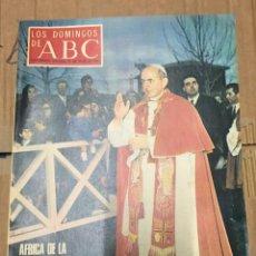 Coleccionismo de Los Domingos de ABC: LOS DOMINGOS DE ABC (27-7-1969) UGANDA LA COPA GALEA TENIS CADIZ. Lote 168761212