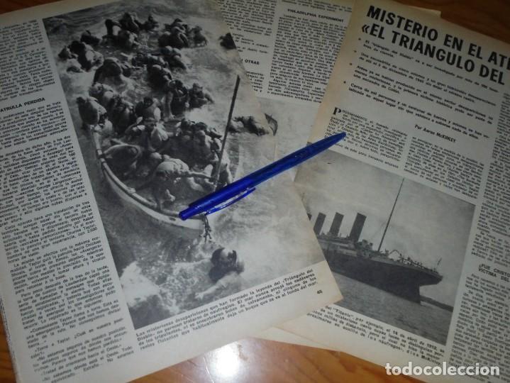 RECORTE : MISTERIO EN EL ATLANTICO : EL TRIANGULO DEL DIABLO. DOMINGOS ABC, AGTO 1975 (Coleccionismo - Revistas y Periódicos Modernos (a partir de 1.940) - Los Domingos de ABC)